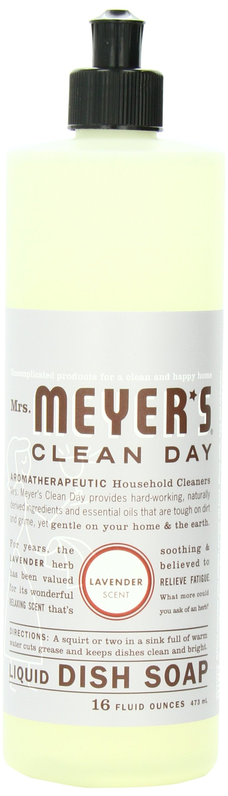 Mrs. Meyer's Clean Day Dish Soap, Lavender, 16-Ounce Bottles (Case of 6)