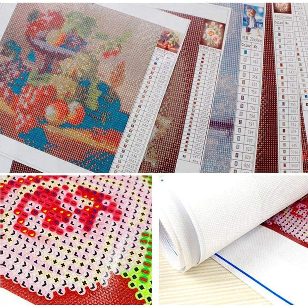 Yionloe DIY Diamond Painting Kit Full-Rhinestone Dandelion Cross Stitch Arts Home Decor Cross-Stitch