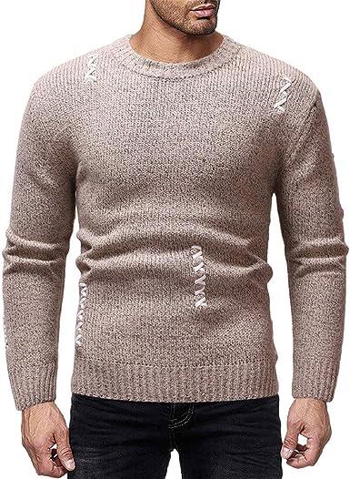 Jersey de Hombre Suture Camiseta de Invierno Cuello Redondo ...
