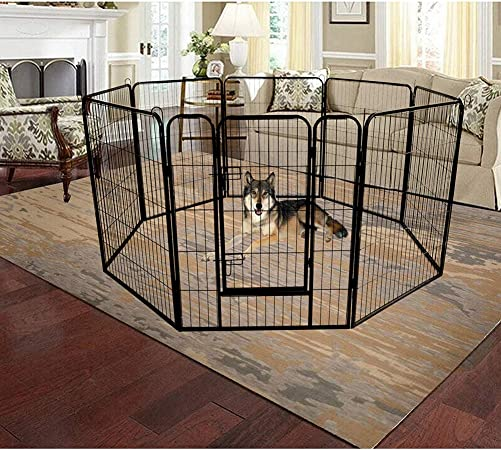 YSKWA Quality Large Indoor Metal Puppy Dog Run Fence Iron Pet Dog Playpen