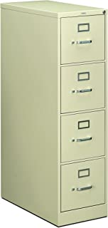 product image for HON 214PL 210 Series 28-1/2-Inch 4-Drawer Full-Suspension Letter File, Putty