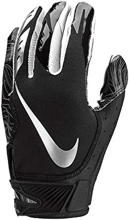 Nike Mens Vapor Jet 5.0 Football Gloves Black Chrome (Black Chrome 96774bfcd