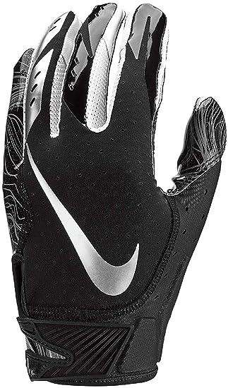 Nike Mens Vapor Jet 5.0 Football Gloves Black Chrome (Black Chrome b0425f28d2