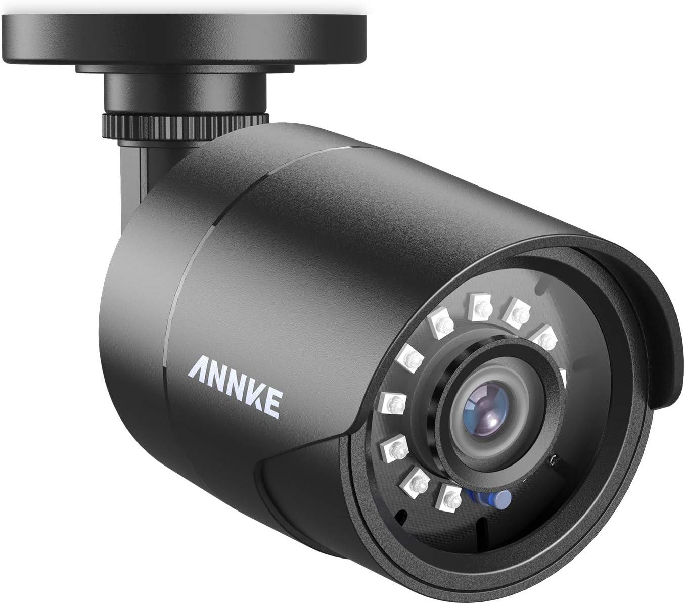 ANNKE Cámara de seguridad 1080P Bala AHD/TVI/CVI/CVBS 4-en-1, Cámara de Vigilancia Analógica IP66 Impermeable Uso Interior y Exterior, Visión Nocturna 66Pies de Transparente IR