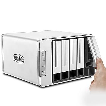 TERRAMASTER D5-300C USB 3.0 (5 Gbps) Tipo C Carcasa Raid de 5 Ranuras Soporte Raid 0/1/Single Modo Raid 2+3 Exclusivo Almacenamiento de Disco Duro ...