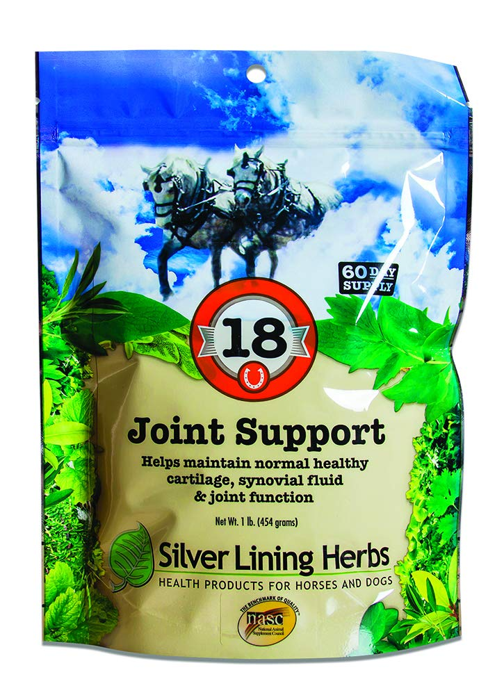 Silver Lining Herbs Natural Herbal Joint Support For Horses | Supports Normal Healthy Synovial Fluid Production, Cartilage and Connective Tissue For Healthy Joints and Hips I 1 Pound Bag Made in USA by SILVER LINING H