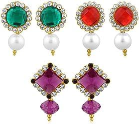 Sukkhi Copper Drop Earrings for Women (Golden) (CB70115GLDPD400)
