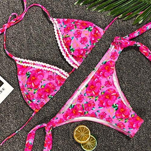 Top Bikini Tankini Spiaggia S Kootk Sexy Costume Due Bagno Swimsuit Impostato Pezzo E Bagnarsi Costumi Suit Slip Rosa floral Nuoto Donna Da wXFXCqWS
