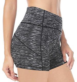 QUEENIEKE Shorts Deportivos para Mujer 3.5 Pulgadas Entrepierna Entrenamiento de Control de Barriga de Cintura Alta Running Activewear para Gym Fitness