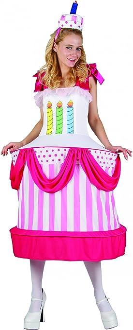 Disfraz de tarta de cumpleaños mujer Única: Amazon.es: Juguetes y ...