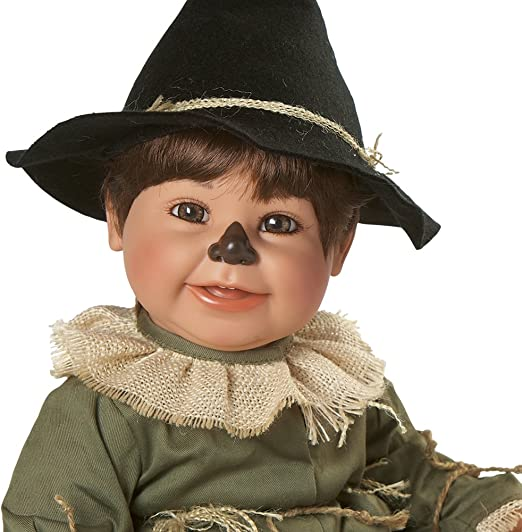 """Scarecrow 20/"""" Vinyl Doll Adora Never removed from original box, Wizard of OZ"""