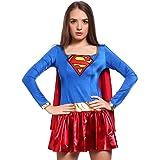 Sassy Super Hero Miss Heroine Fancy Dress Costume Movie Cartoon Outfit one size Superwoman L uk 12 14