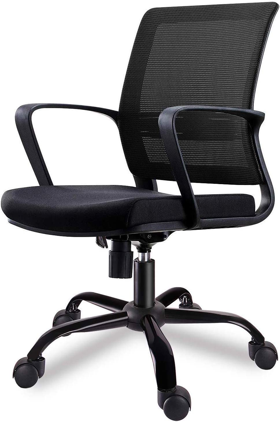 Smugdesk Mid-Back Ergonomic Office Lumbar Support Mesh Computer Desk Task Chair with Armrests: Kitchen & Dining