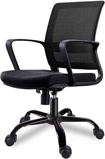 Amazon Com Smugdesk Mid Back Ergonomic Office Lumbar Support Mesh Computer Desk Task Chair With Armrests Furniture Decor