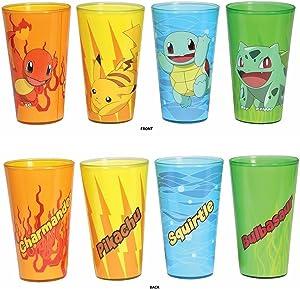 Pokemon Generation 1 Starters Set of 4 16 oz. Pint Glass [Just Funky]