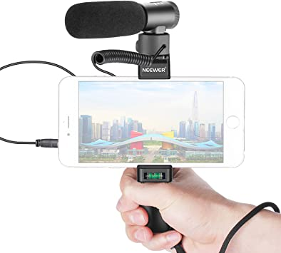 Neewer En-Cámara Escopeta Micrófono con Agarre Smartphone Kit ...