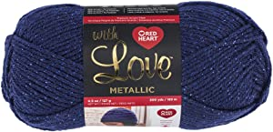Red Heart E400BM.8820 With Love Yarn, Metallic - Royal