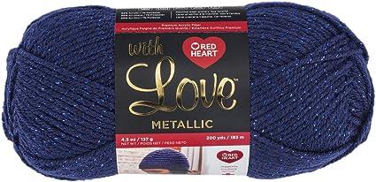 Lime Red Heart with Love Metallic Yarn