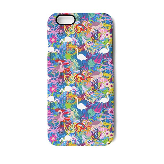 new concept d3576 c5494 Amazon.com: Trendy iPhone 7/8 Cell Phone case Colorful Flamingos ...
