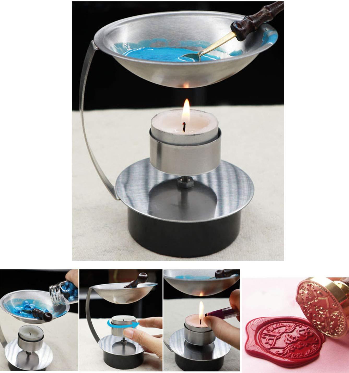 mdlg ajustable perlas de fuego Kit de altura cera cuchara de fusión calentador de cera de fusión herramienta de horno estufa olla para sello de cera ...