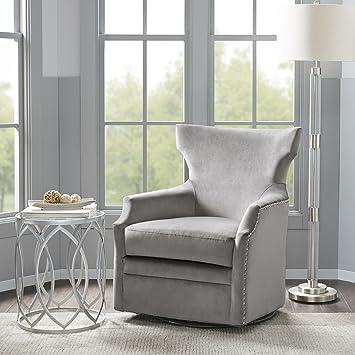 Madison Park Mp103 0603 Dahlia Swivel Glider Chair Solid Wood