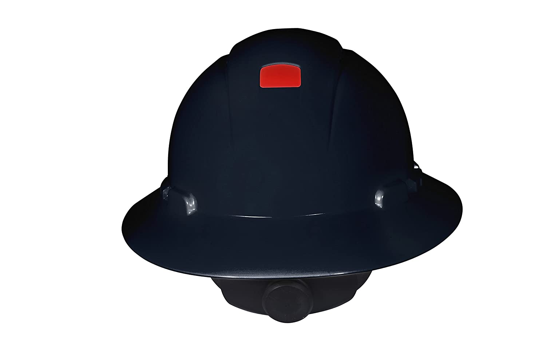 Gray Vented and Uvicator 3M Full Brim Hard Hat H-808V-UV 4-Point Ratchet Suspension