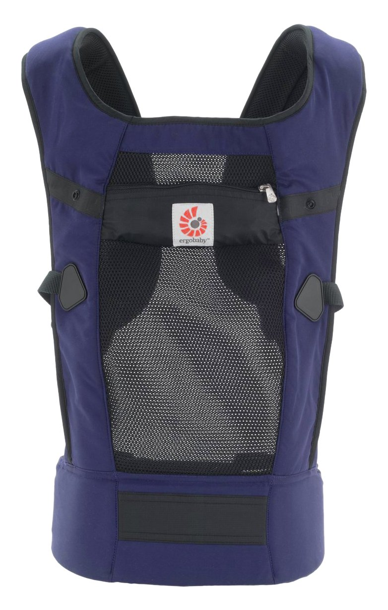 Ergobaby Original Cool Air Mesh Performance Ergonomic Multi-Position Baby Carrier with X-Large Storage Pocket, Graphite BCPVENGRBLKNL