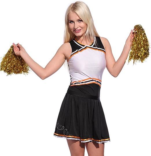 Maboobie - Disfraz de Cheerleader para Mujer Animadora Mini ...
