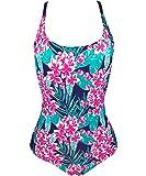 Qpladlse Swimwear Women's One Piece Swimsuit Reversible Lace-Up Bathingsuit(FBA)