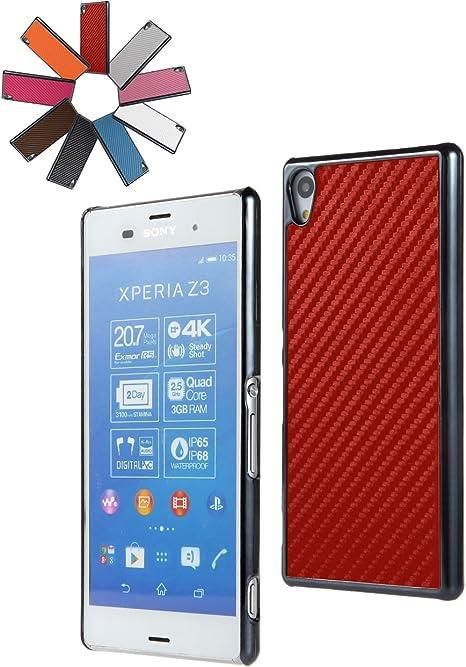 BRALEXX 4551 Metallic Red Carbon 3641 Smartphone Case para Sony ...