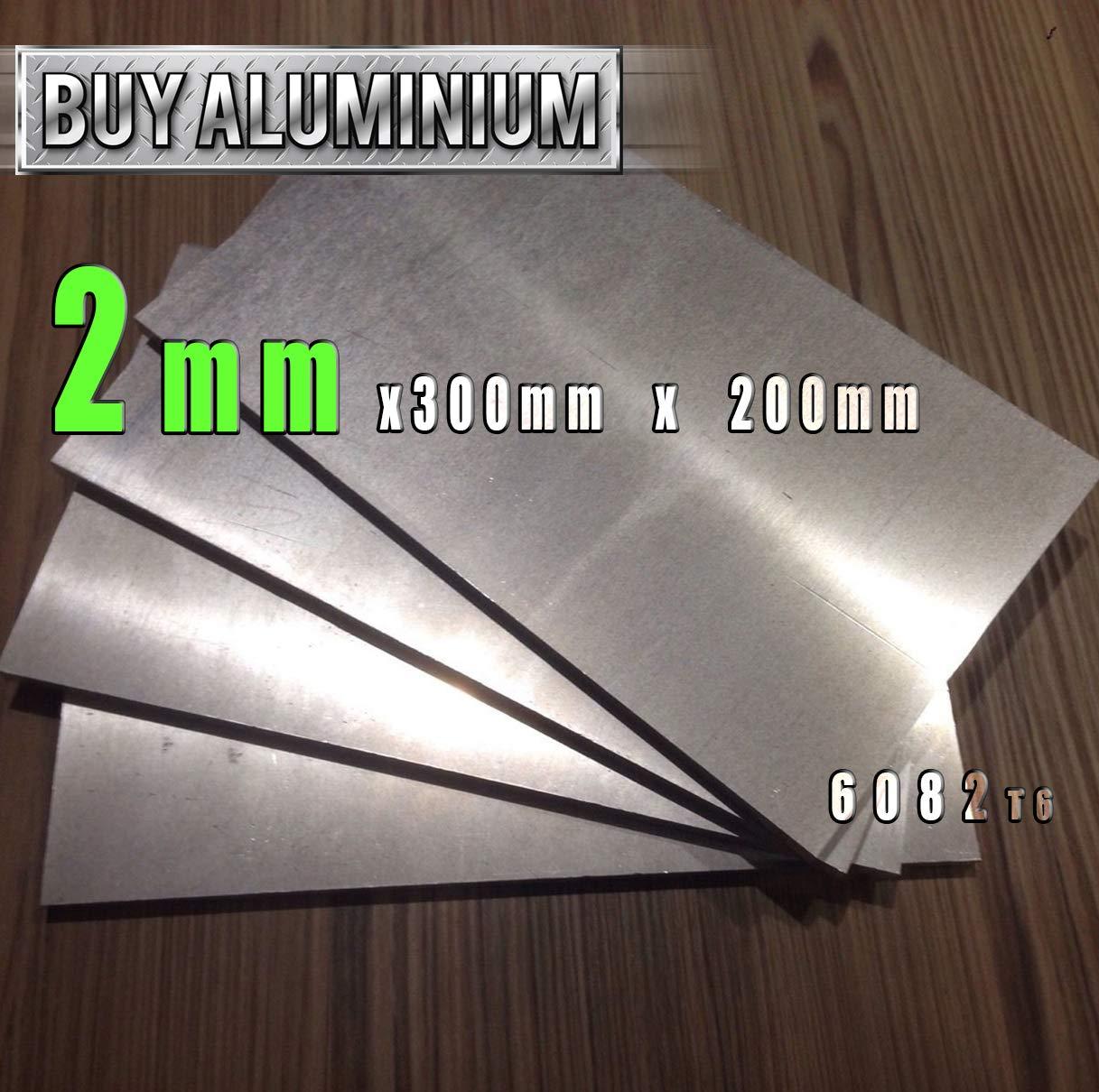 100mm x 100mm Placa de aluminio de 2 mm 6082 T6