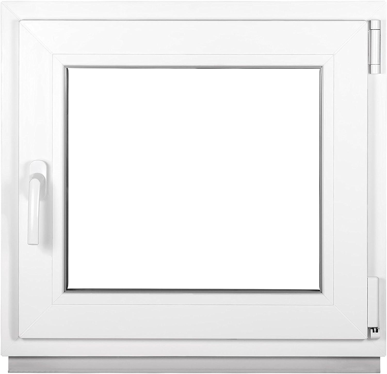 BxH 440x650 mm Dreh-Kipp 2-3 fach Verglasung 2 fach - DIN Links Premium Fenster Kellerfenster Kunststofffenster wei/ß