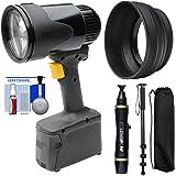 Lowel GL-1 Power LED Focusing Light with Rubber Lens Shade + Lenspen + Monopod Kit