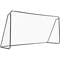 INTEY Steel Soccer Goal 12'x6' Soccer Net with Anti-Rust Metal Tubes in All Weather-Includes 10 Ground Stakes for…