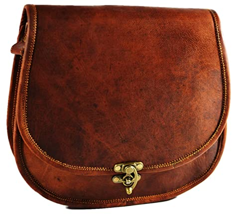 5b3e168f3a0d Light weight Leather Small Crossbody Bag Cross Over Purse Messenger Bags  for Women Cross Body Shoulder Handbag (10x13, Brown)