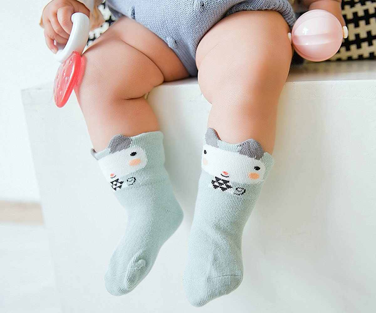 Baby Socks Toddler Socks Infant Socks Cartoon Pattern Girls Boys Cotton Socks