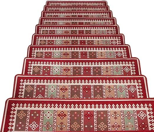 JIAJUAN Alfombra De Escalera Antideslizante Caucho Soporte Piso Protector Huella Esteras, 4 Estilos, 2 Tallas, Personalizable (Color : A-1 pcs, Tamaño : 100x30x3cm): Amazon.es: Hogar
