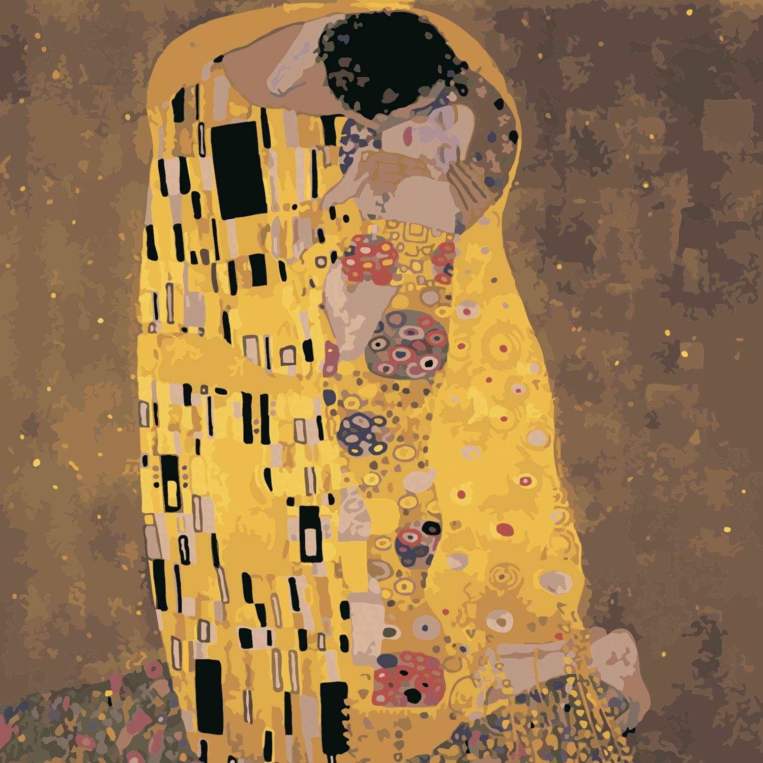 [Wooden Framed] DIY Painting, Paint by Number Kits for Adults -''Kiss'' by Gustav Klimt - Includes Brushes, Paints and Numbered Canvas - 16x20 Inch - Great for Kids and Adults - by Tsvetnoy by Tsvetnoy - the world of bright ideas
