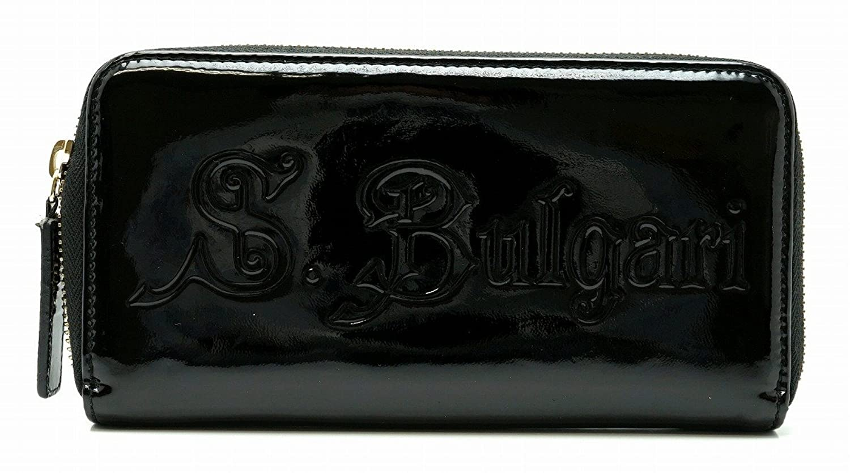 [ブルガリ] BVLGARI S.Bulgari ソティリオ ブルガリ ラウンドファスナー 長財布 パテントレザー 黒 ブラック 31303 [中古] B0732LMMSZ