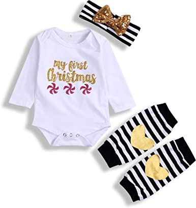3Pcs Infant Baby Girl Clothes Lip Romper Tops Headband Shorts Pants Outfits Set