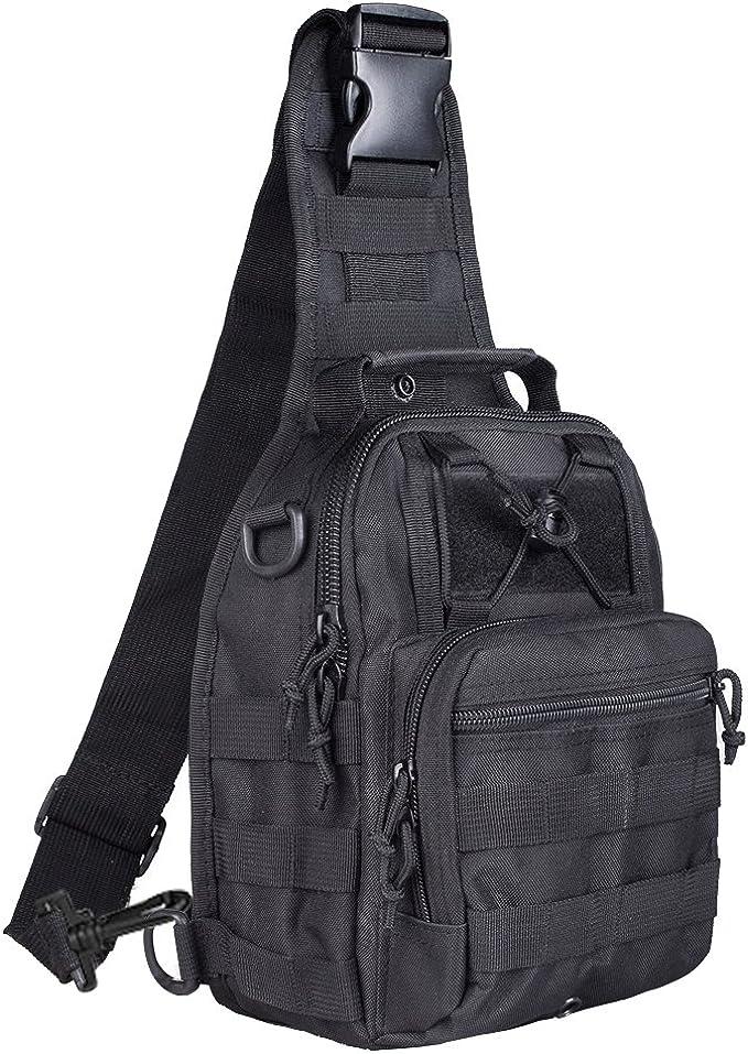 Best Tactical Sling Bag: Qcute Tactical Bag, Single Shoulder Messenger Bag