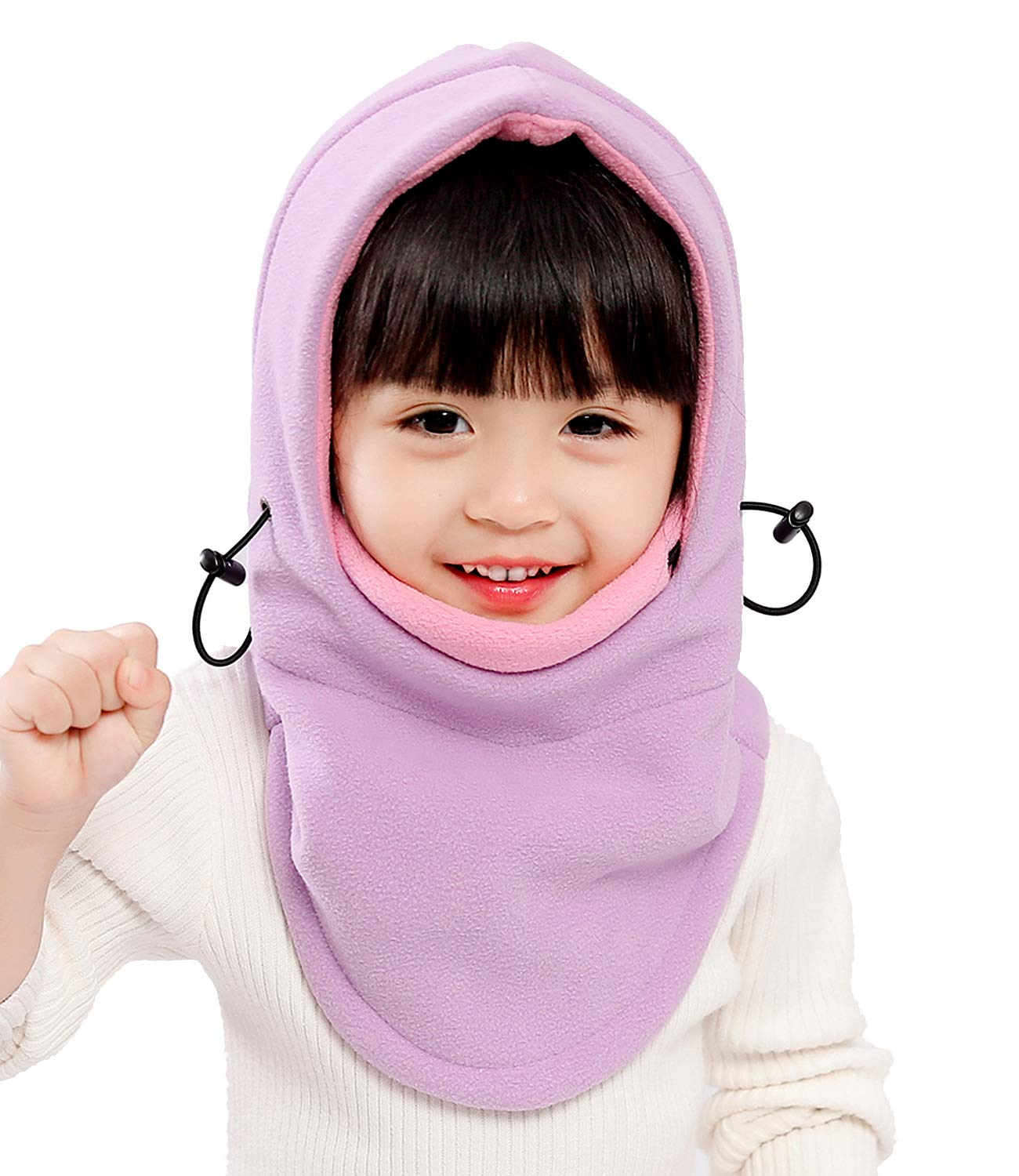Kids Winter Windproof Cap,Children's Double Warm Balaclava Face Mask for Cold Weather,Neck Warmer,Adjustable Full Face Cover