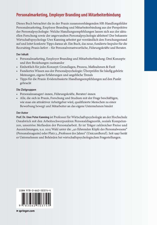 Personalmarketing, Employer Branding und Mitarbeiterbindung: - Uwe Peter  Kanning - Amazon.de: Bücher