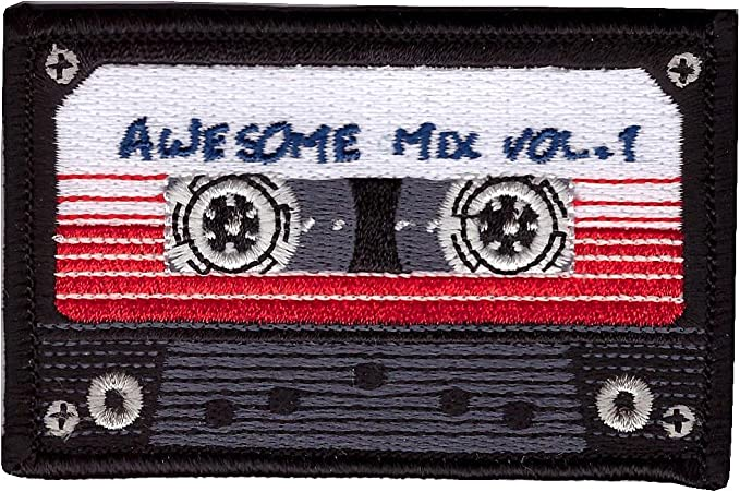 Rad Mix Tape Patch Embroidered Iron or Sew On Theme Classic Rock Cassette Music