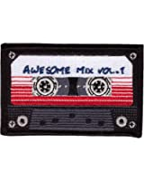 Hook Patch Awesome Mix Tape Cassette Retro 80's Morale Tactical