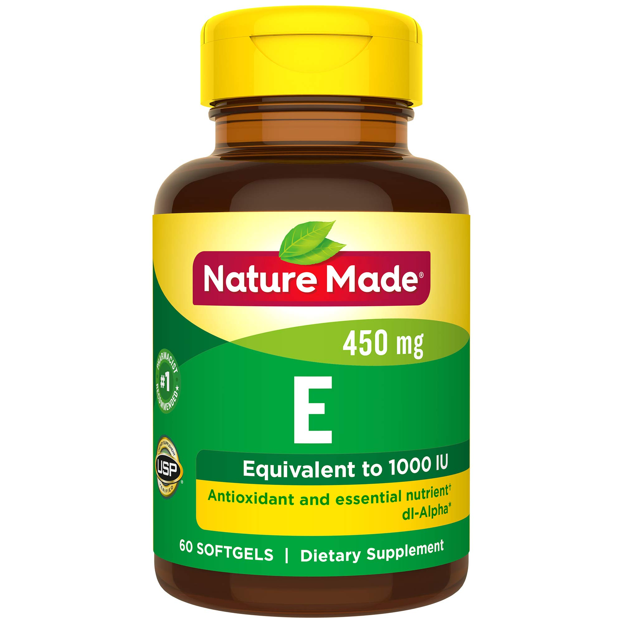 Nature Made Vitamin E 1000 IU (dl-Alpha) Softgels (Pack of 3) by Nature Made