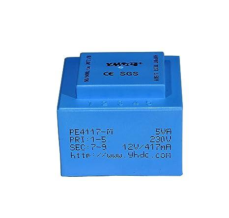 yhdc pe4117-m Potencia de salida 5 VA Transformador encapsulado PCB soldadura seguridad aislamiento de