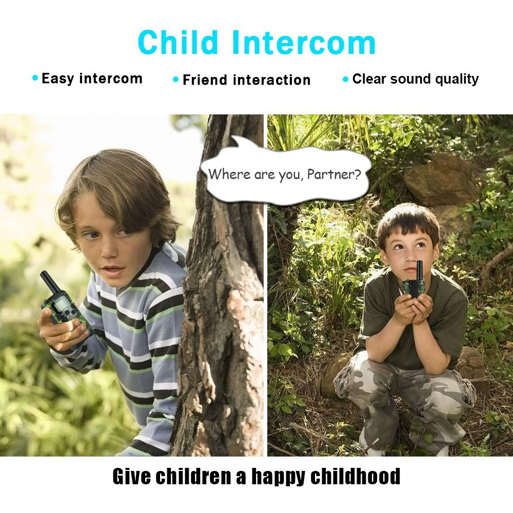 TOP Gift Outdoor Toys Walkie Talkies for Kids, Handheld Walkie Talkies for Kids Toys for 3-12 Year Old Boys Girls 2018 Christmas New for Kids Boys Girls 3-12 Green TGDJ01 by TOP Gift (Image #3)