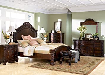 ashley north shore panel bedroom set 5 pc queen - North Shore Living Room Set