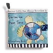 DEMDACO Swim in The Sea Turtle Children's Plush Soft Page Activity Book